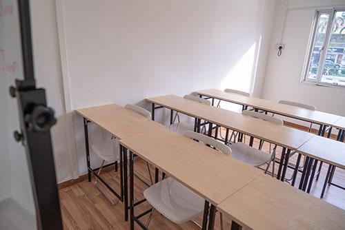 Hao Language Centre Facilities: Well-lit Classroom