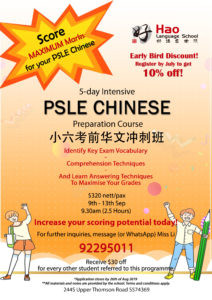 PSLE September Chinese Camp!